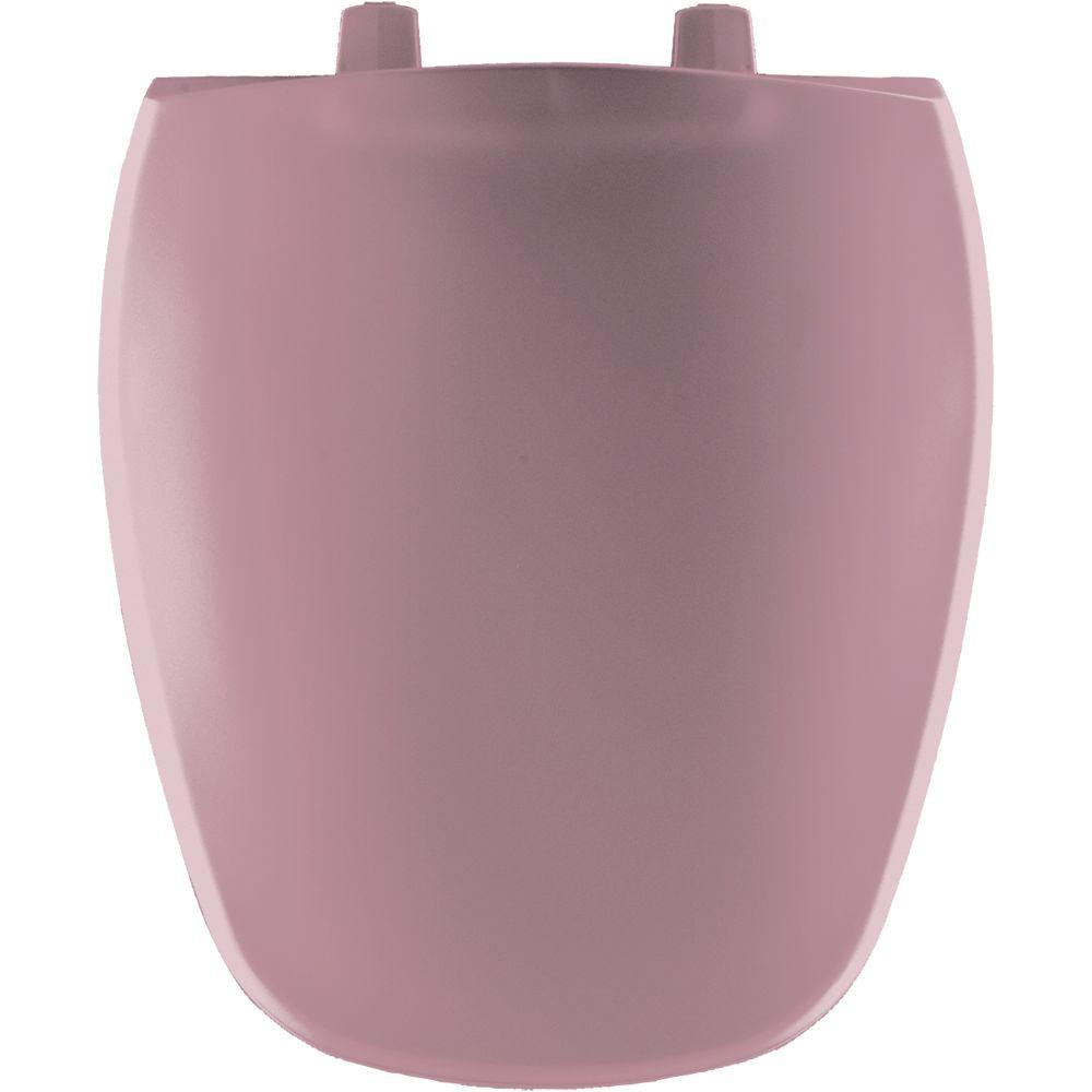 Round Closed Front Toilet Seat in Dusty Rose