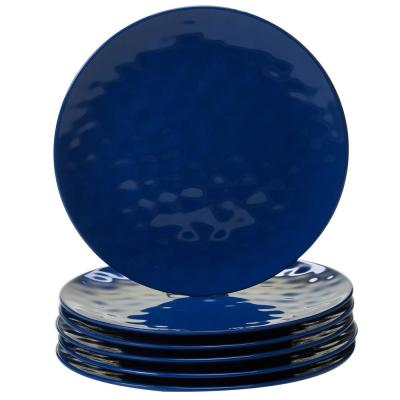 Cobalt 6-Piece Blue Dinner Plate Set
