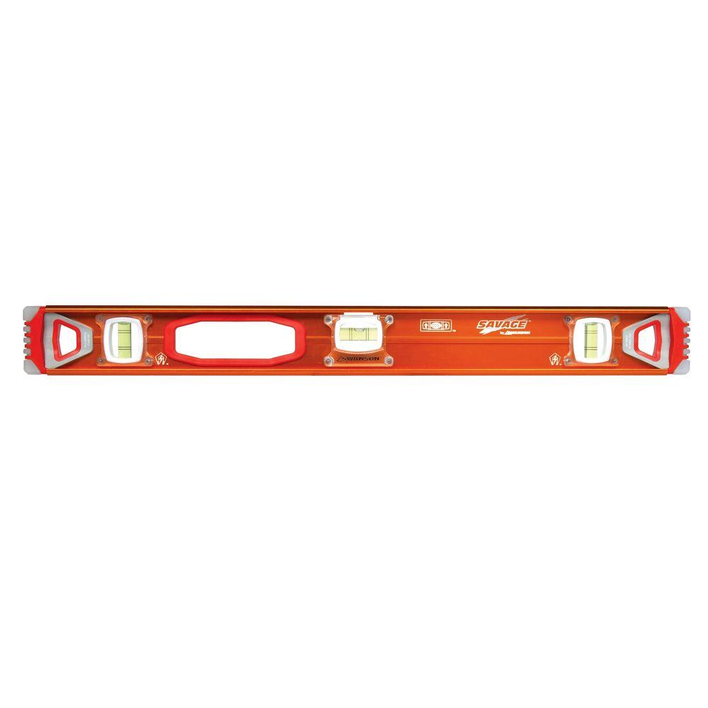 Swanson 24 in. Magnetic Professional I-Beam Level with Gelshock End Caps