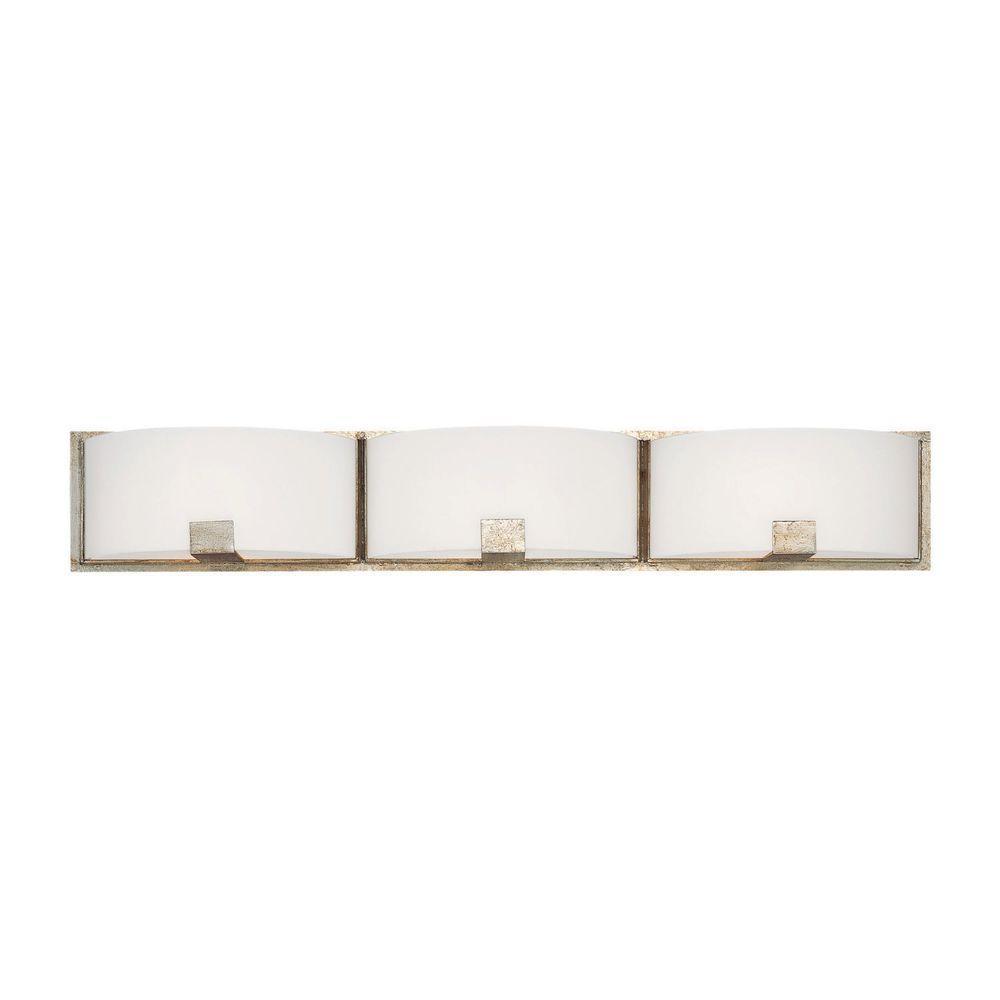 Filament Design Johnson 3-Light Winter Gold Incandescent Bath Vanity