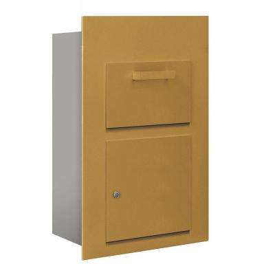 3600 Series Collection Unit Gold USPS Front Loading for 5 Door High 4B Plus Mailbox Units
