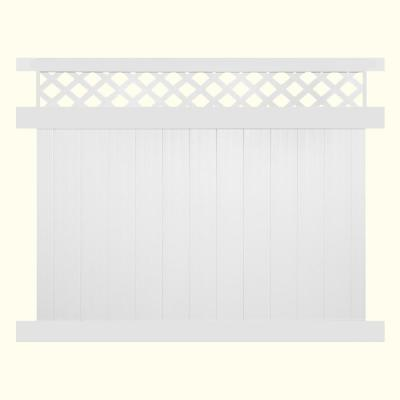Glenshire 6 ft. H x 6 ft. W White Vinyl Lattice Top Fence Panel Kit