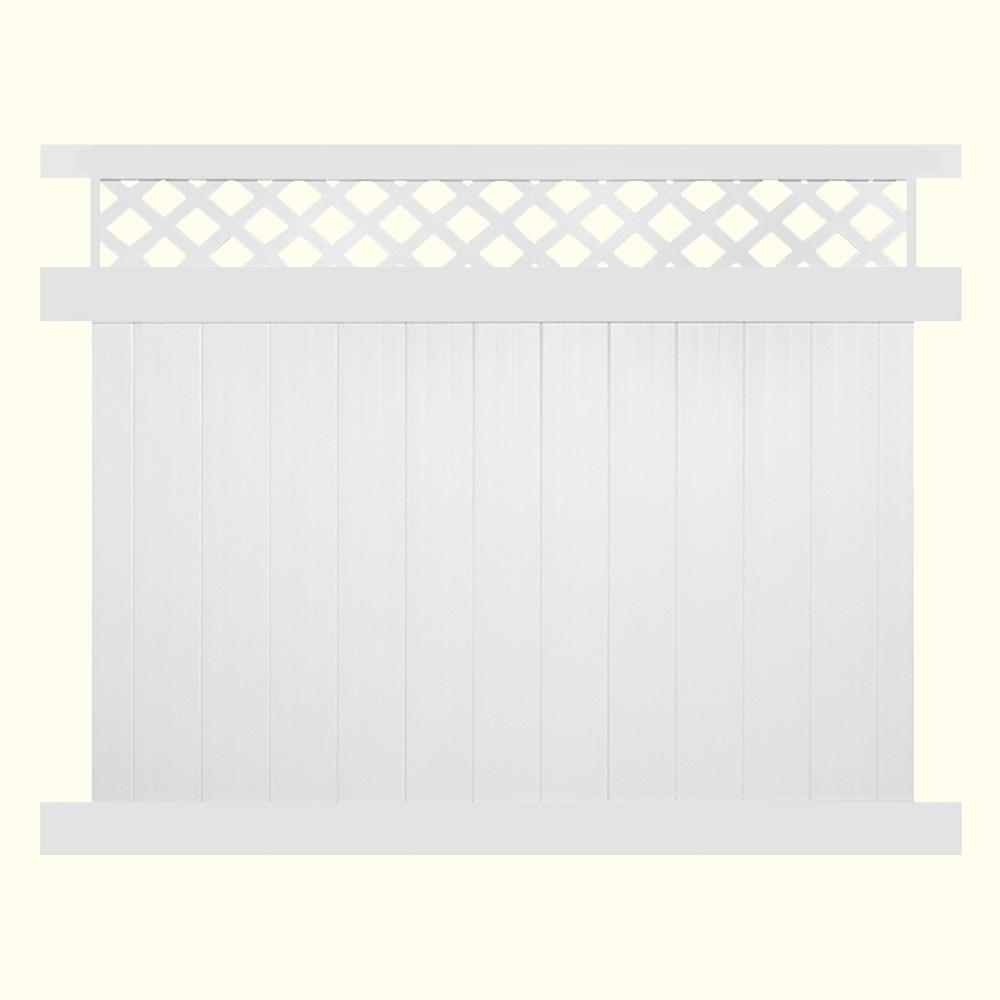Veranda 6 Ft H X 6 Ft W White Vinyl Windham Fence Panel 73014216 The Home Depot