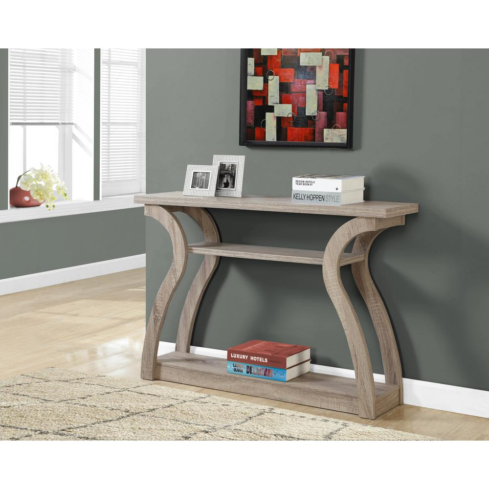 Monarch Specialties Dark Taupe Console Table