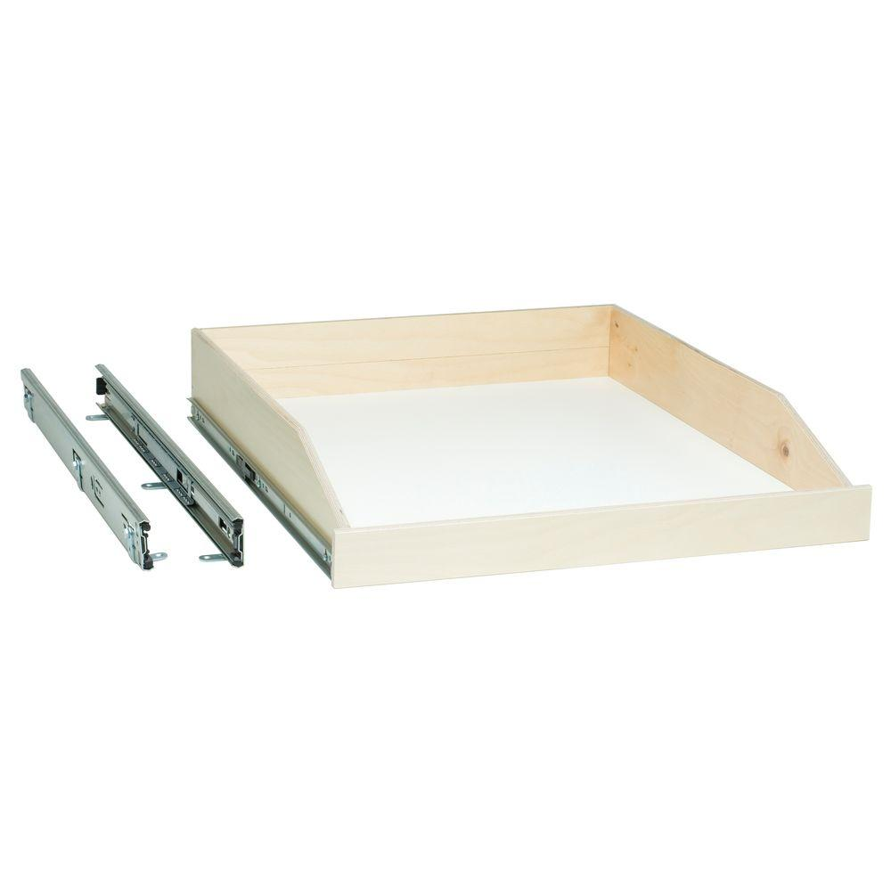 Made-To-Fit Slide-Out Shelf 6 in. to 36 in. Wide, Full-Extension, Choice of Wood Front