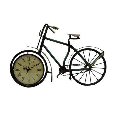 Cycle Shaped Multi-Color Metal Analog Display Table Clock