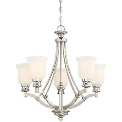 Audreys Point 5-Light Polished Nickel Chandelier