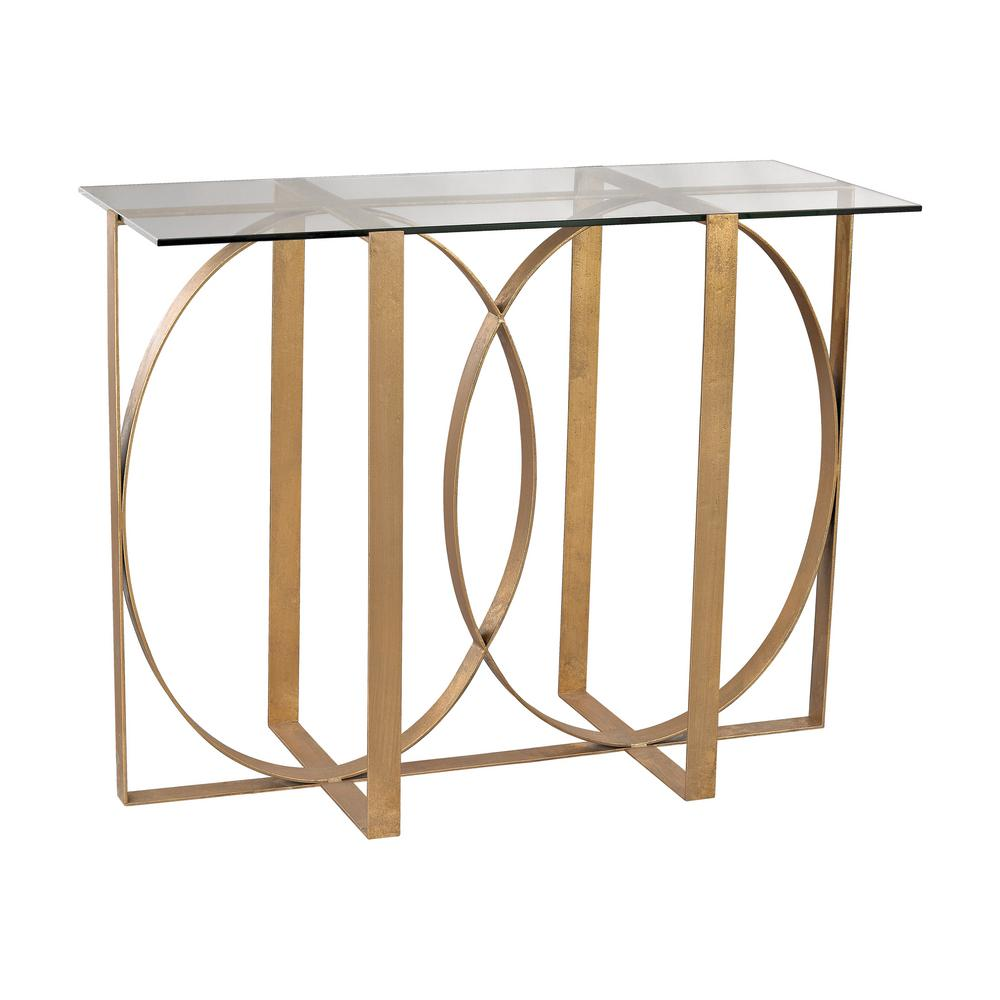 Titan Lighting Box Rings Gold Leaf Console Table Tn 892430 The