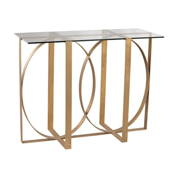 Titan Lighting Box Rings Gold Leaf Console Table