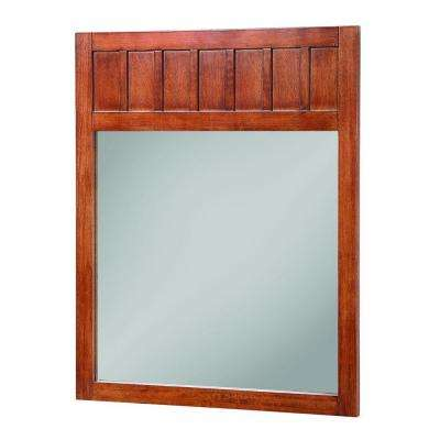 Knoxville 34 in. L x 28 in. W Wall Mirror in Nutmeg