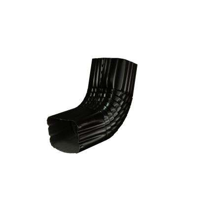 2 in. x 3 in. Black Aluminum Downspout A Elbow