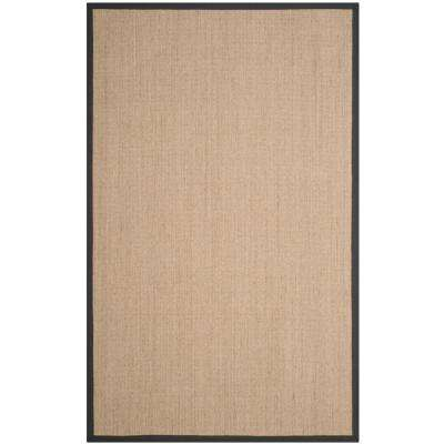 Natural Fiber Beige Dark Gray 4 Ft X 6 Area Rug