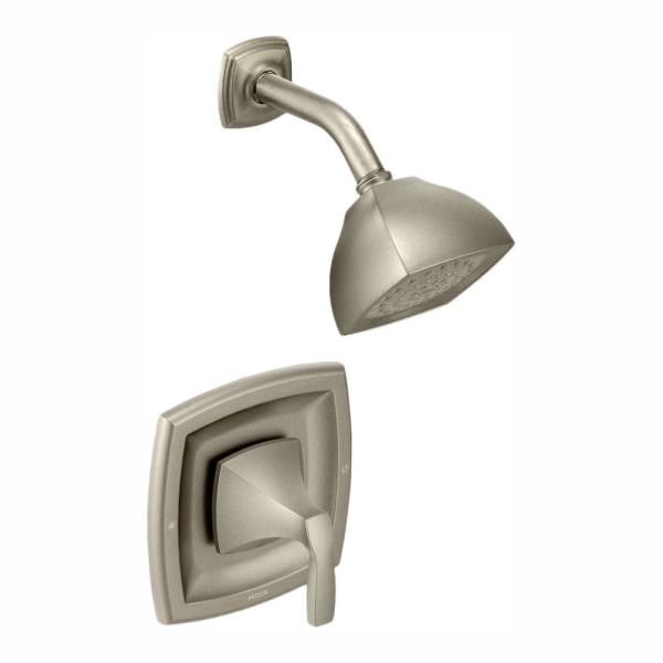 Voss Single-Handle 1-Spray Posi-Temp Shower Trim Kit in Brushed Nickel (Valve Not Included)