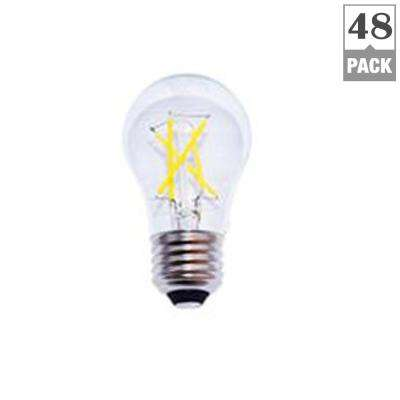 40-Watt Equivalent A15 Dimmable Energy Star Clear Filament Vintage Style LED Light Bulb Soft White (48-Pack)