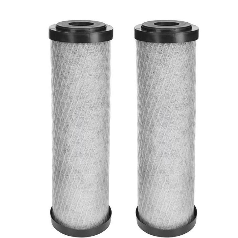 HDX Universal Fit Carbon Block Whole House Water Filter Cartridge 2 Pack