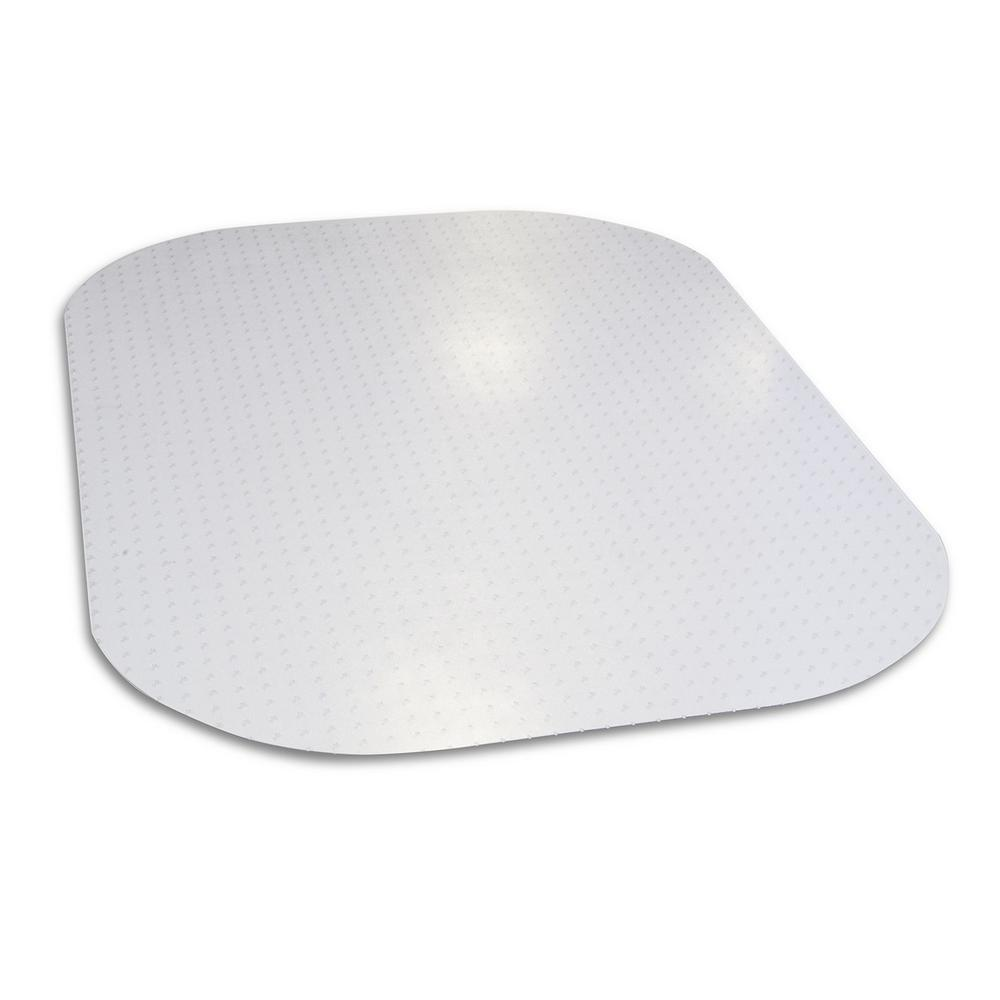 """Evolve Modern Shape 36/"""" x 48/"""" Clear Office Chair Mat With Lip For Low Pile Made"""