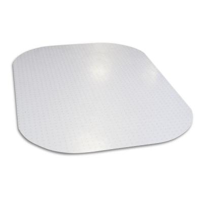 Evolve Modern Shape 45 in. x 60 in. Clear Rectangle Office Chair Mat for Low Pile Carpet