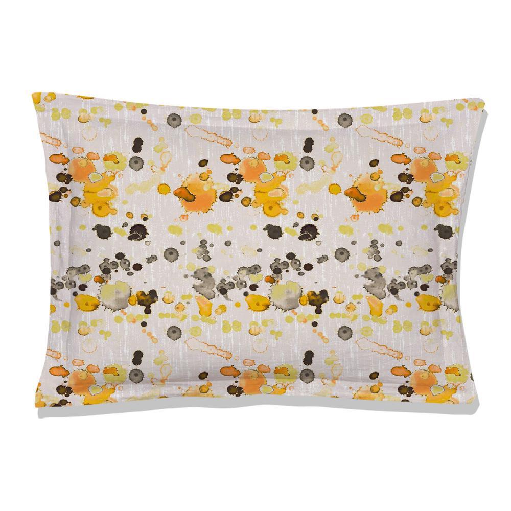 Citronelle Reversible Print Multi-Color 100% Organic Cotton Queen Sham (Set of 2)
