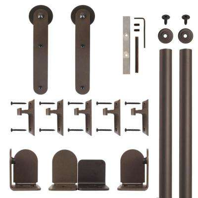 Stick Oil Rubbed Bronze Rolling Door Hardware Kit for 3/4 in. to 1-1/2 in. Door