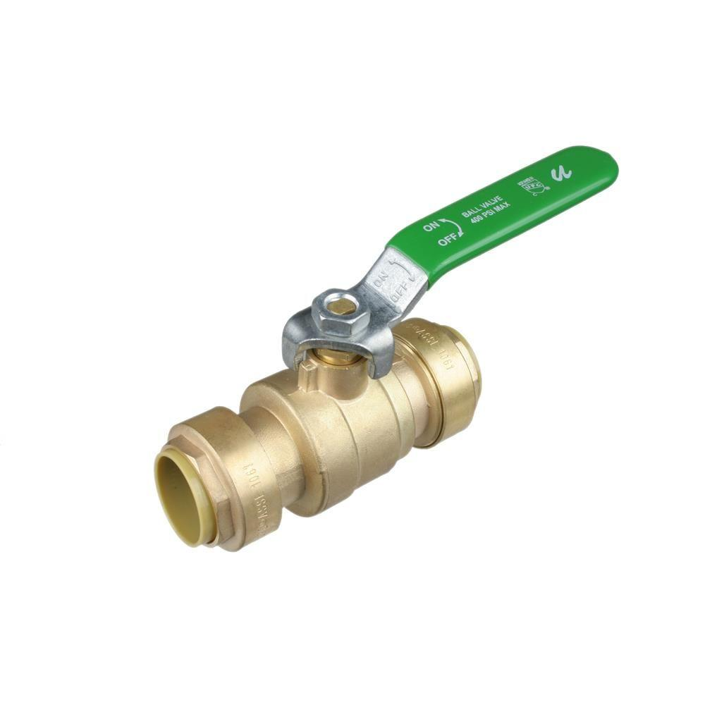3/4 in. Push-Fit Brass Full Port 200 psi Packing Gland Ball