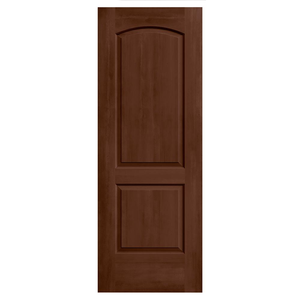 jeld wen 24 in x 80 in continental milk chocolate stain solid core molded composite mdf. Black Bedroom Furniture Sets. Home Design Ideas