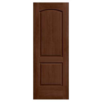 24 in. x 80 in. Continental Milk Chocolate Stain Solid Core Molded Composite MDF Interior Door Slab