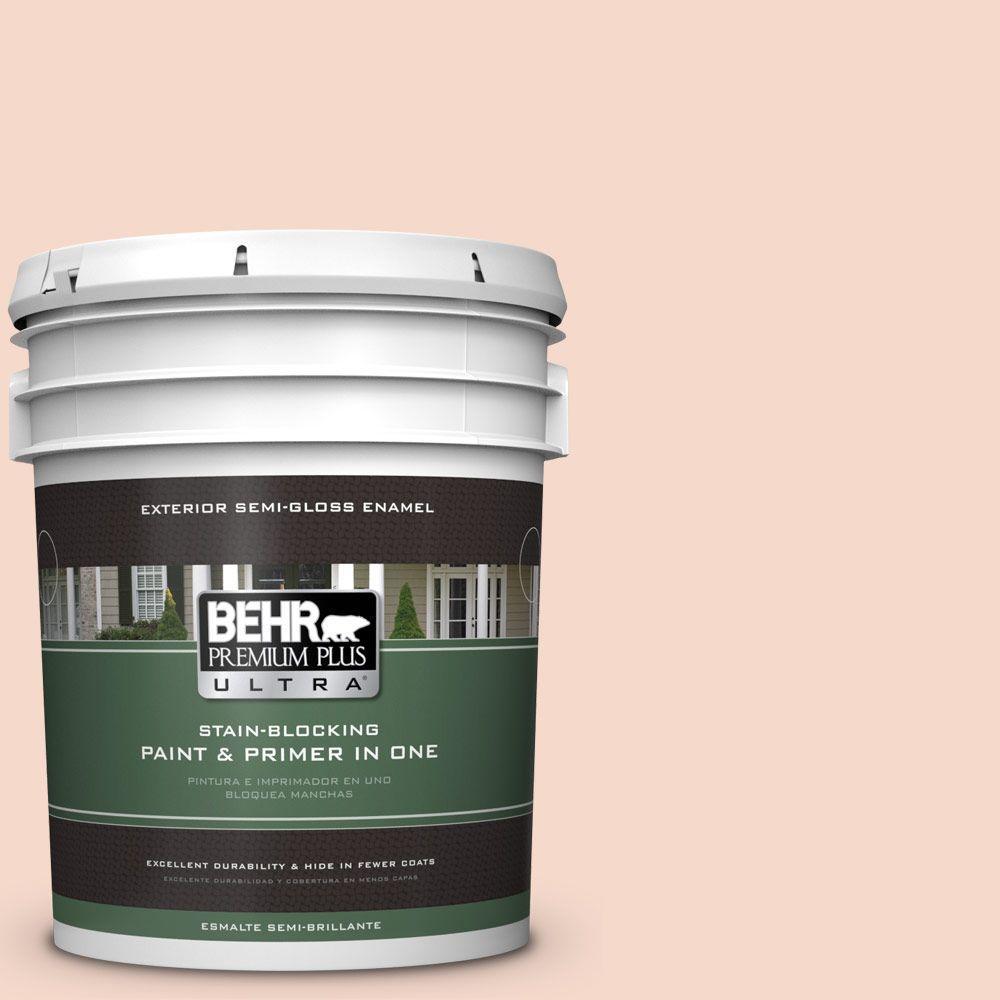 BEHR Premium Plus Ultra 5-gal. #M200-1 Peach Sachet Semi-Gloss Enamel Exterior Paint