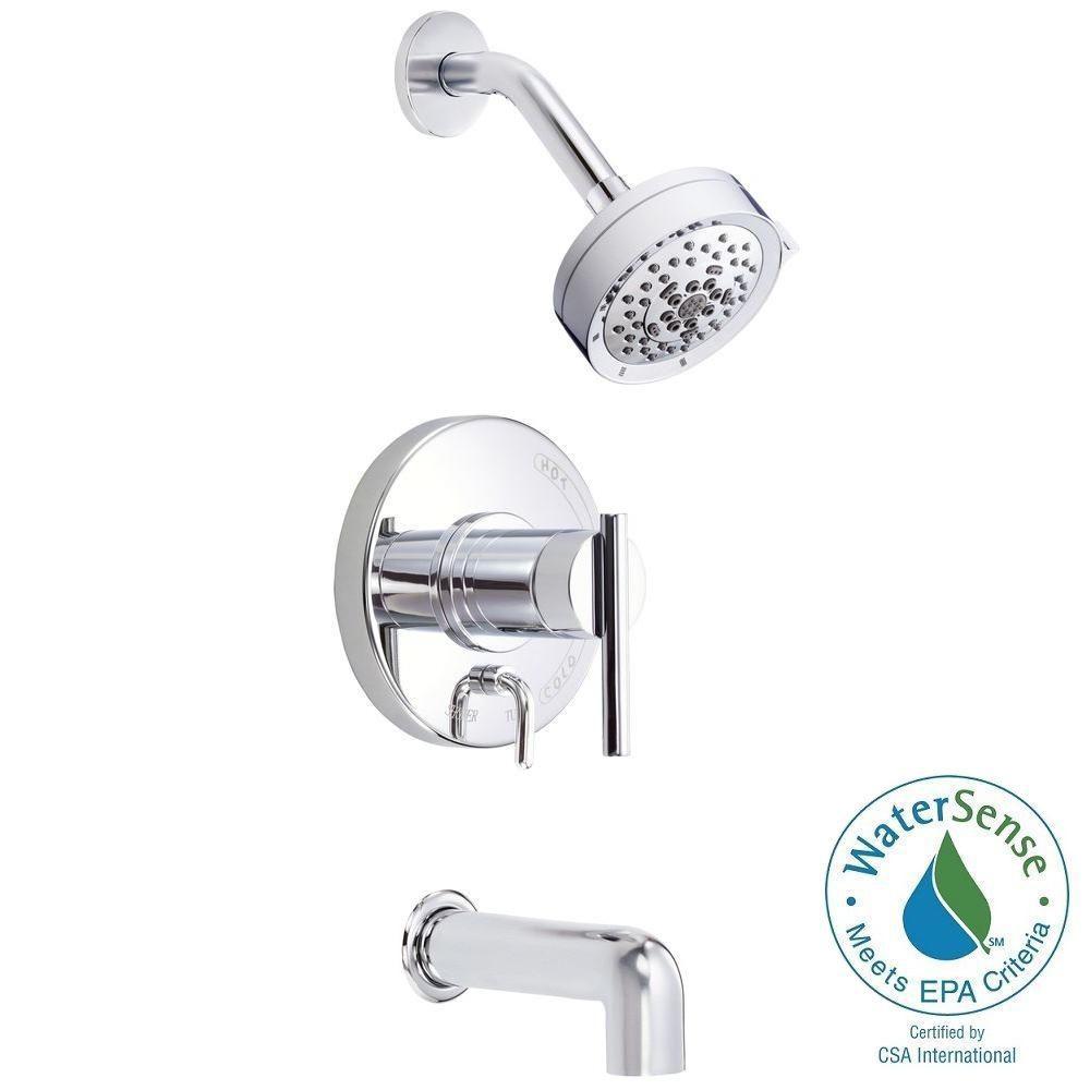 Danze Parma 1-Handle Pressure Balance Tub and Shower Faucet Trim ...