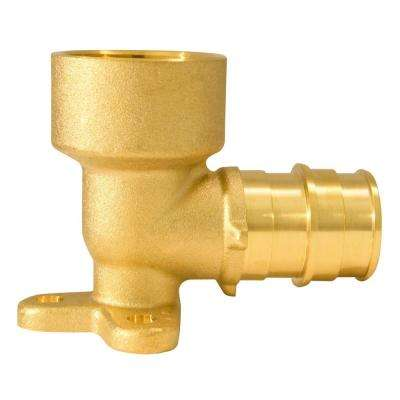 3/4 in. Brass PEX-A Expansion Barb x 3/4 in. Female Pipe Thread Adapter 90 Drop-Ear Elbow