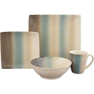 16-Piece Nouveau Teal Dinnerware Set