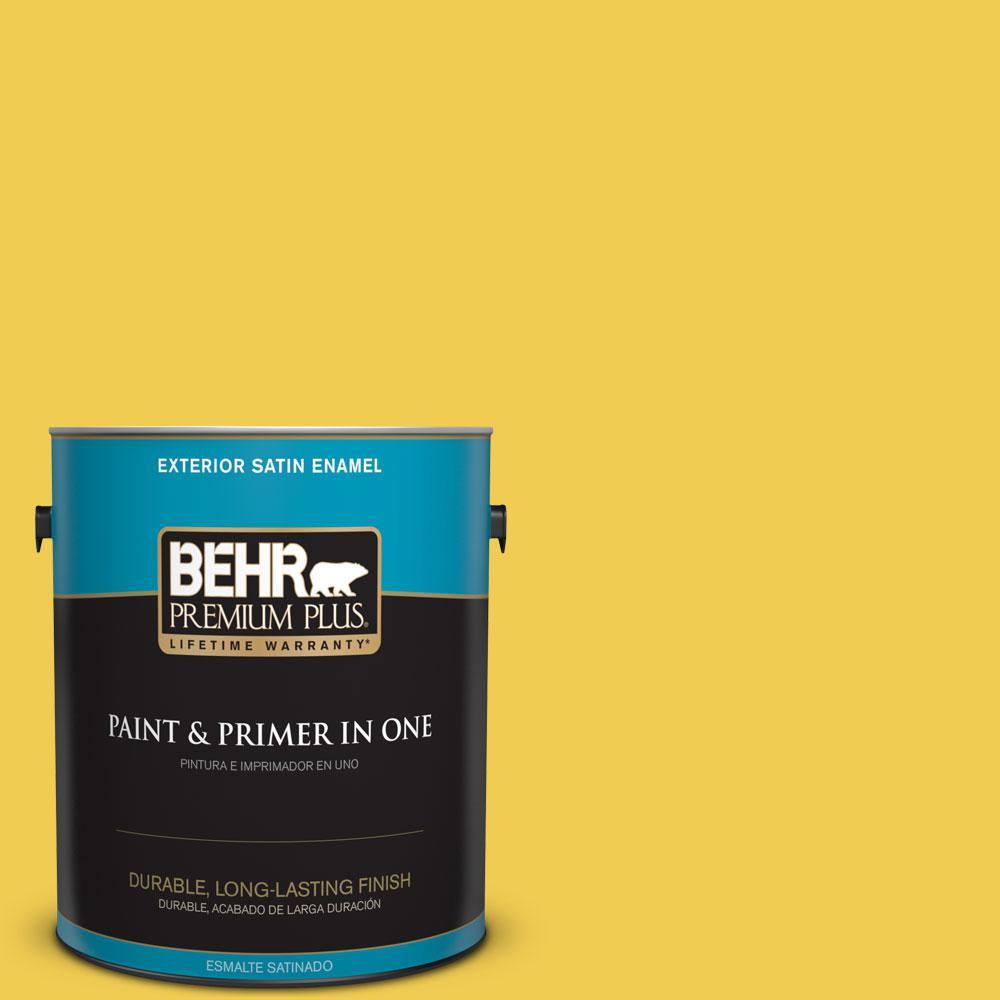 BEHR Premium Plus 1-gal. #P310-6 Radiant Sun Satin Enamel Exterior Paint
