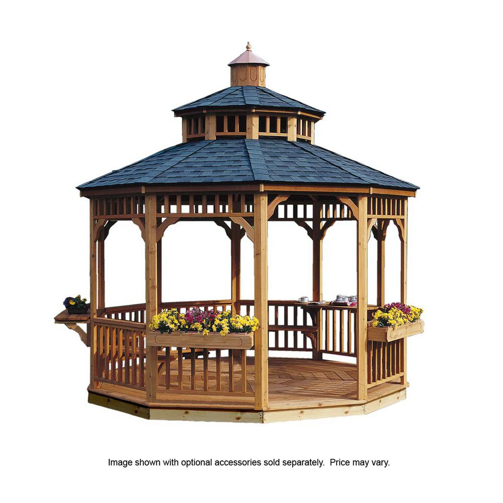 Handy home products 12 ft san marino round gazebo 19948 6 for Home office design 10x10
