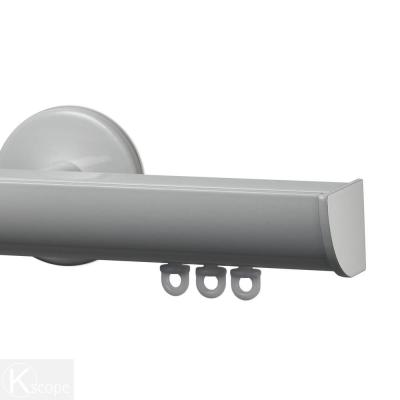 Invisible 48 in. Non-Adjustable 1-1/8 in. Single Traverse Window Curtain Rod Set in White