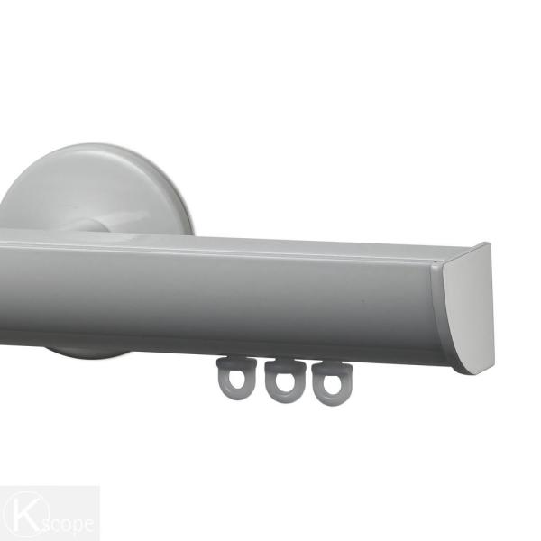 Invisible 132 in. Non-Adjustable 1-1/8 in. Single Traverse Window Curtain Rod Set in White