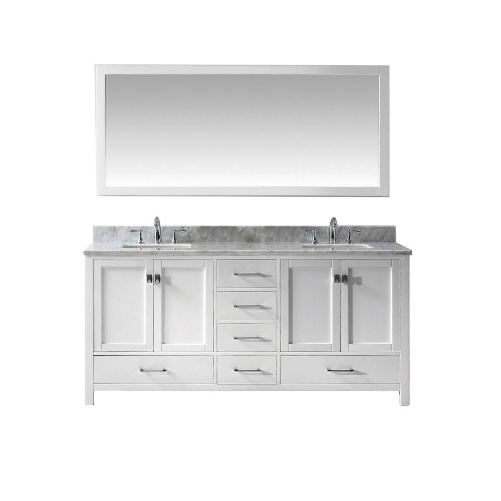 5 double sink vanity. Caroline  Double Sink Bathroom Vanities Bath The Home Depot