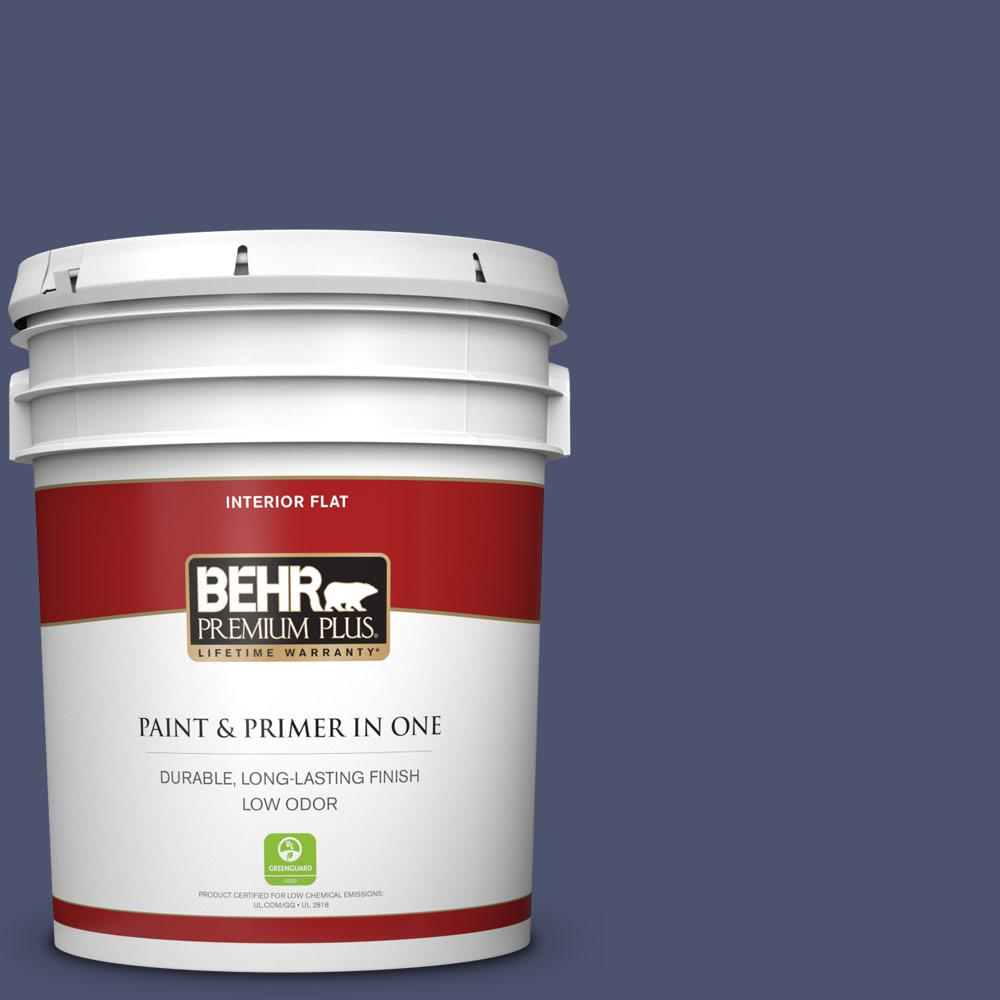 Reviews For Behr Premium Plus 5 Gal S540 7 Bossa Nova Flat Low Odor Interior Paint And Primer In One 130005 The Home Depot