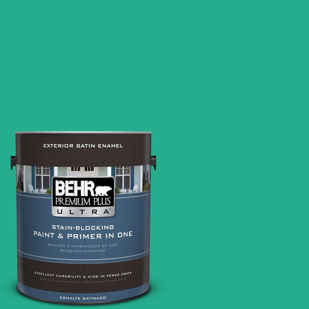 BEHR Premium Plus Ultra 1-gal. #P430-5 Enchanted Wells Satin Enamel Exterior Paint