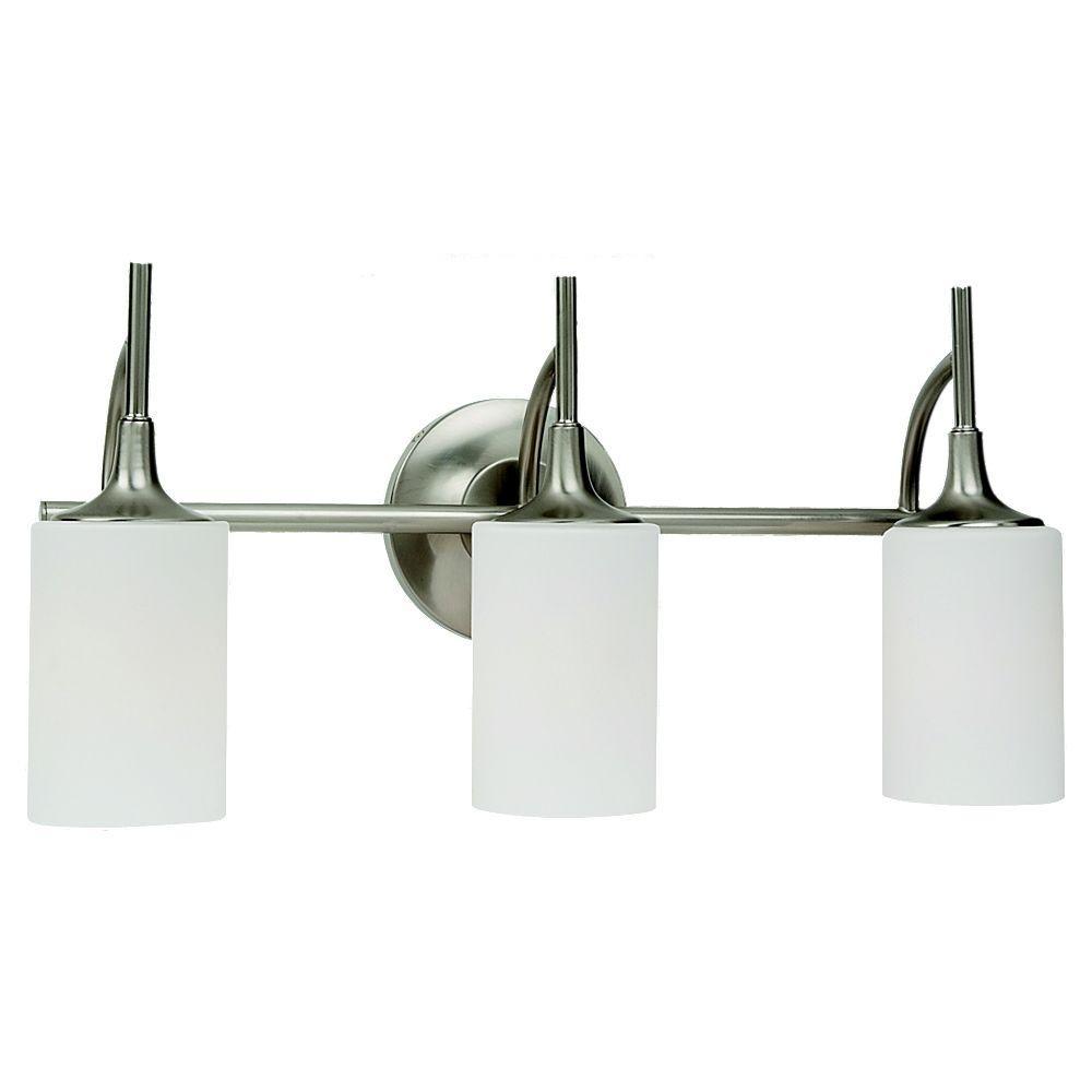 Sea Gull Lighting Stirling 3-Light Brushed Nickel Vanity Light