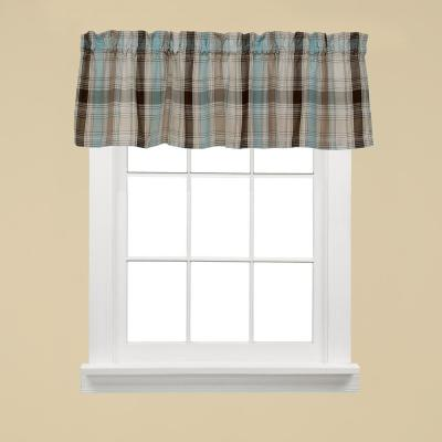 Cooper 13 in. L Polyester Valance in Blue
