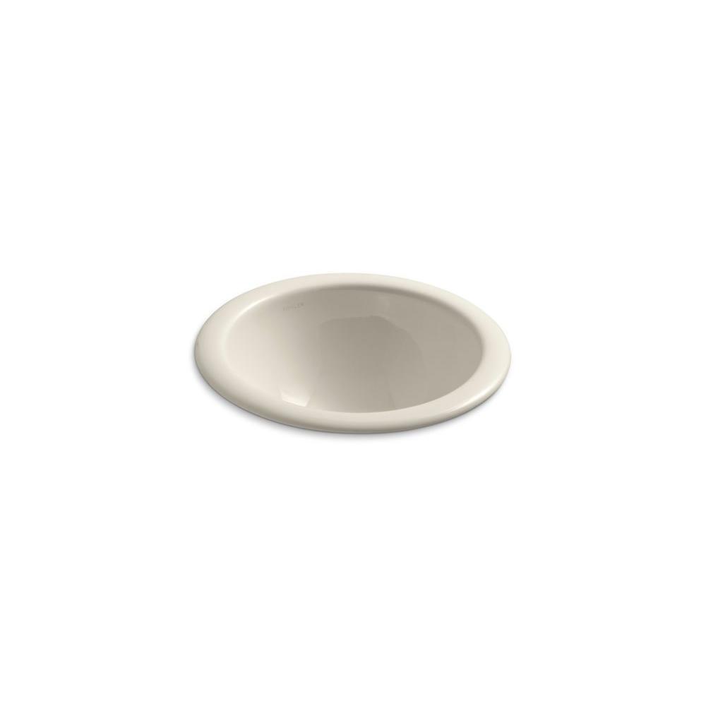 Kohler Comp Drop In Vitreous China Bathroom Sink Almond