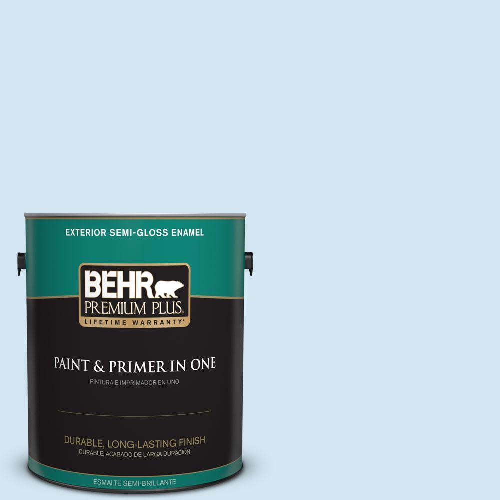 1-gal. #550A-1 Sea Sprite Semi-Gloss Enamel Exterior Paint