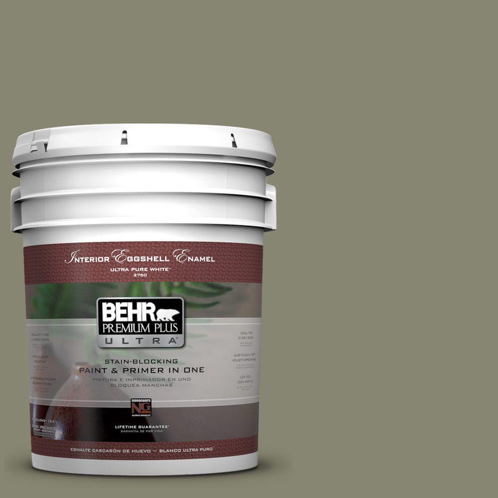 BEHR Premium Plus Ultra 5-gal. #400F-6 Grasshopper Wing Eggshell Enamel Interior Paint