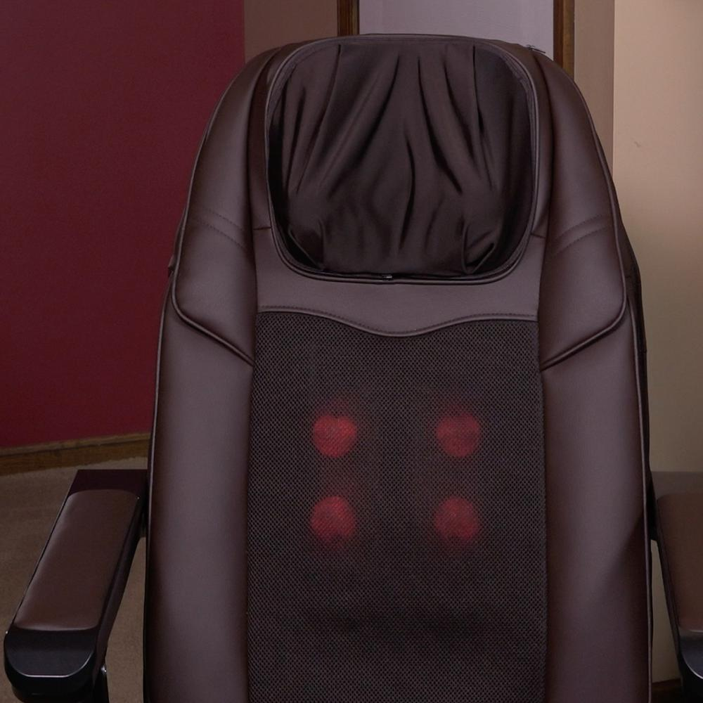Lifesmart Calla Casa Series Portable Large Folding Massage Chair with Heat and Rolling Massage Includes Remote