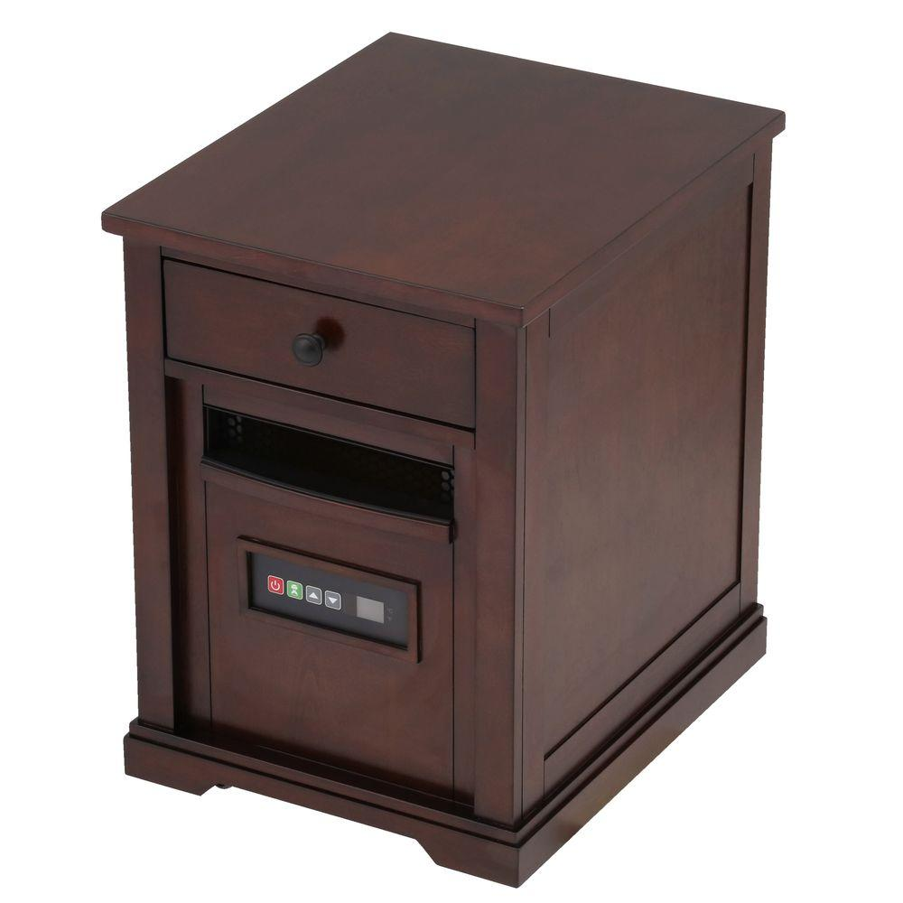 Duraflame 1500-Watt Electric Infrared Quartz Portable Heater with Drawer and Remote Control - Espresso