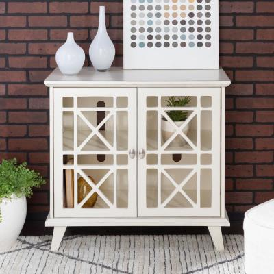 "32"" Accent Storage Cabinet - Antique White"
