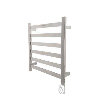 Note 6-Bar Stainless Steel Wall Mounted Electric Towel Warmer Rack in Brushed Nickel