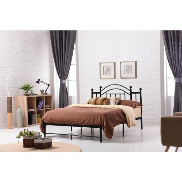 Hodedah Black Full Platform Bed HI805 F Black