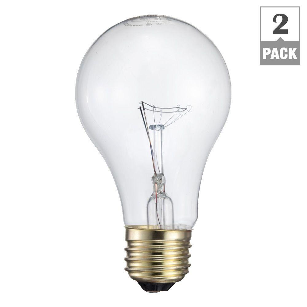 Philips 60-Watt Incandescent A19 Garage Door Light Bulb (2-Pack)
