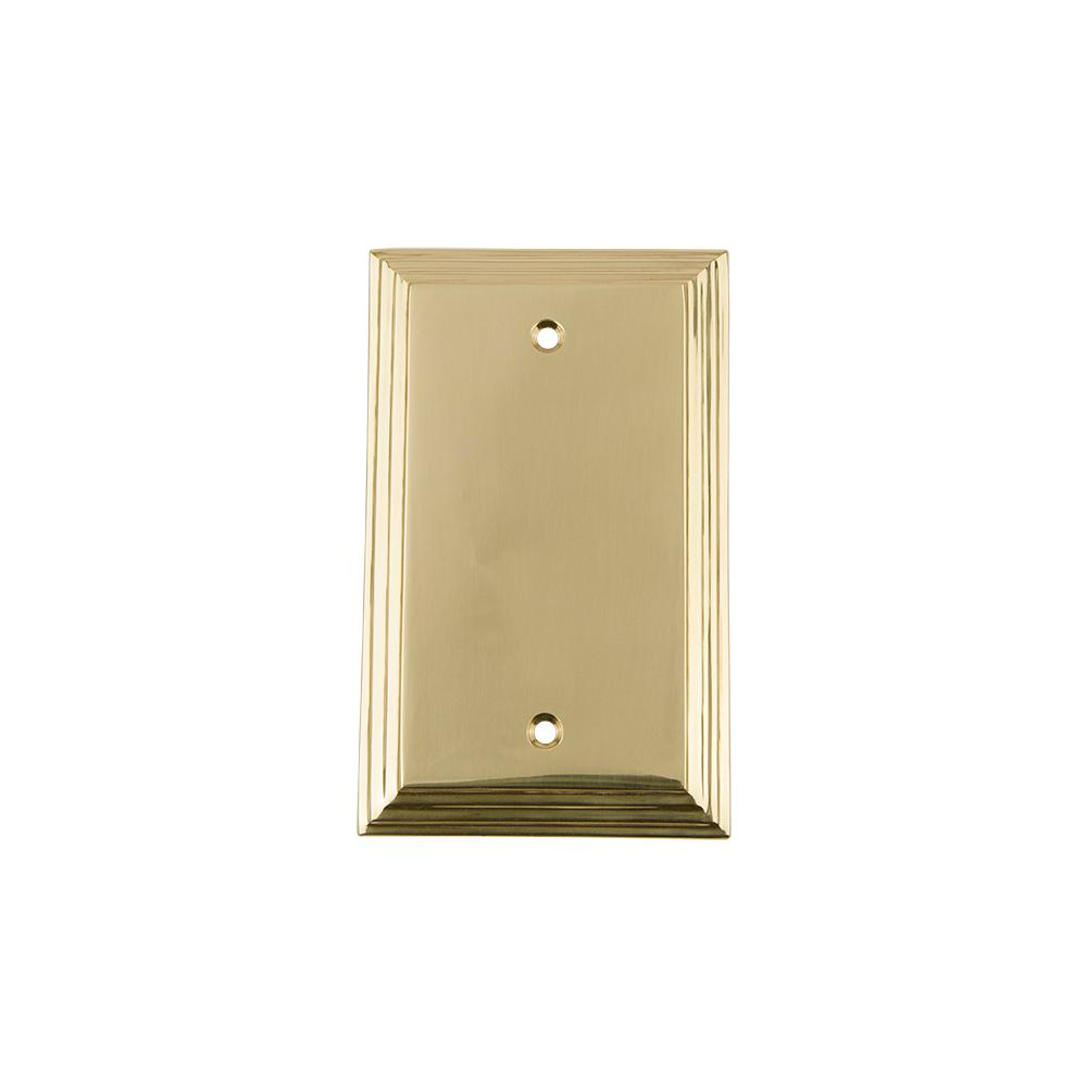 Nostalgic Warehouse Meadows Switch Plate with Blank Cover in Antique ...