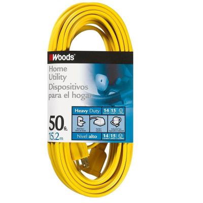 50 ft. 14/3 SPT-3 Flat Indoor Heavy-Duty Utility Extension Cord, Yellow
